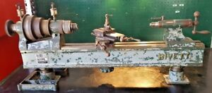 Vtg 1942 Rivett 505 Metal Turning Lathe W 38 Bed Head Tail Stock Cross Slide