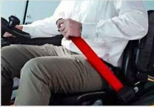 Red Retractable Forklift Replacement Seatbelt W Hardware