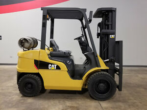 2014 Cat Caterpillar 2p6000 6000lb Pneumatic Forklift Lpg Lift Truck Hi Lo