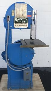 Walker Turner Vertical Band Saw 15 1 2 Throat Cutting Industrial Power Tools