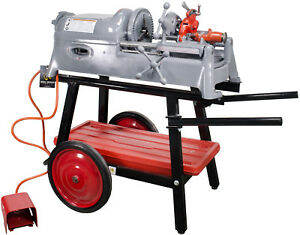 Ridgid 535 V1 Pipe Threader With Ridgid Stand And Die Head reconditioned