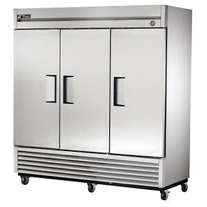 True T 72 hc Commercial Reach in Solid Swing Door Refrigerator