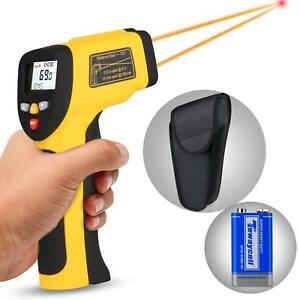 Non contact Digital Infrared Laser Ir Adjustable Thermometer Temperature Lcd Gun