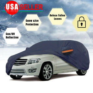 Suv Full Car Cover Breathable Waterproof Rain Snow Heat Uv Resistant Protection