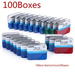 Usps 100 Boxes Dental Fg Diamond Burs For High Speed Handpiece Medium Fg 500pcs