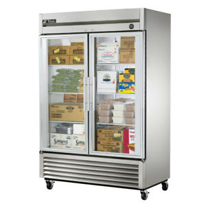 True T 49fg ld Commercial Reach in Glass Swing Door Freezer