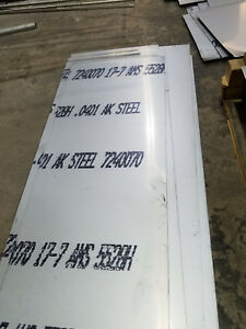 17 7 Ph Stainless Steel Sheet 040 Thick X12 w X20 26 l Mtr s Included