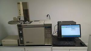 Hp 5890 Gc With 2 Fid Autosampler Computer software Tested Working