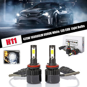 Led Headlight H11 420w Fog Light High Power Bright For 2004 2014 Acura Tsx