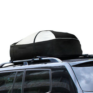 Waterproof 15 cubic Feet Roof Top Box Cargo Bag Travel Carrier Oxford Soft Shell