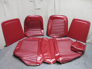 1965 Mustang Standard Front Bench Seat Upholstery Repro Red Tmi 1966 Mustang