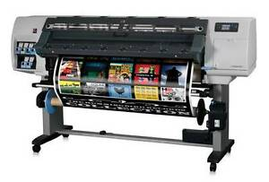 Hp L25500 60 Printer Plotter Car Wrap Signs With Rip Financing Inks Z6100 Latex