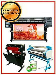Hp 330 64 Printer Cutter Laminator Supplies 1 Year Rip L26500 Z6100 Latex Ink