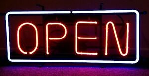Neon Open Signs 24 X 12 local Pick Up