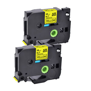 Compatible With Brother Tz 641 Tze 641 3 4 2pk Yellow Label Tape P touch