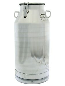 13 Gallon Milk Can Stainless Steel 50 Qt Heavy Duty Sides Strong Sealed Lid