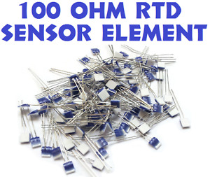 25 Lot 100 Ohm Heraeus M222 Prtd Platinum Rtd Temperature Sensor Element Omega B