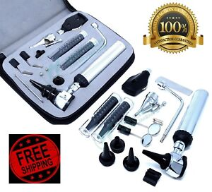 new ent ear nose throat Diagnostic otoscope ophthalmoscope Set W zipper Case