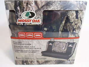 Mossy Oak Break Up Country Camo Black Full Size Bench Seat Cover Suv Trucks Van