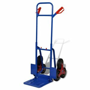 Folding 6 Wheel Dolly Cart Hand Truck Cargo Transport Blue red Sack 330 7 Lb