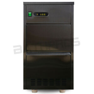 Stainless Steel Countertop Automatic Ice Maker Bullet Shaped Cabinet Machine