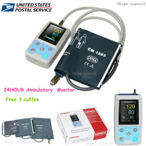 24h Abpm50 Ambulatory Blood Pressure Monitor 3 Cuff pc Sw pulse Rate nibp Holter