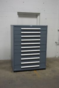 Used Nu era 11 Drawer Cabinet Industrial Tool Storage 45 Wide 1170 Vidmar
