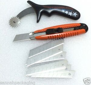 2 Packaging Tools Handyscore And Heavy Duty Box Cutter Plus 10 Hd Blades