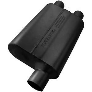 Flowmaster Universal 40 Delta Flow Muffler 2 50 Offset In 2 25 Dual Out