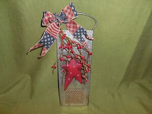 Americana Primitive Kitchen Country Decor Slaw Cutter Red Pip Berries