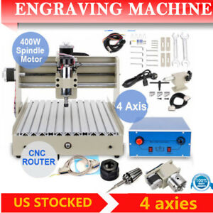 4 Axis 3040 Cnc Router Engraver Engraving Drilling Milling Machine 3d Mach3 Usa