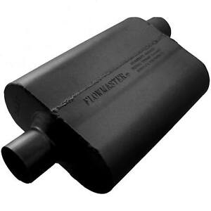 Flowmaster 40 Series Chambered Muffler Oval 2 5 Center In Offset Out 42542