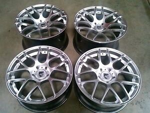 Ruger Mesh Silver 19 Wheels Rims For Porsche 911 944 928 Cayman Carrera Turbo