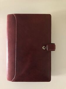 Brand New Filofax Lockwood Wine Personal Size Leather Planner Binder Agenda