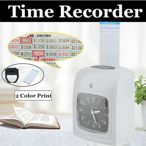 Small Business Time Clock Machine Work Hours Payroll Recorder Punch in Card Ur