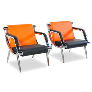 2pcs Pu Leather Office Reception Room Airport Waiting Chair Sofa Cushion Seats