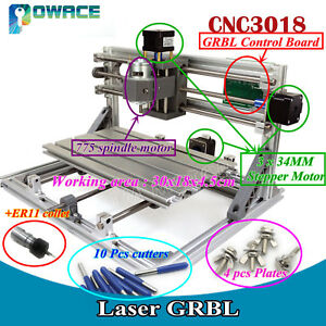 Diy Cnc Mini Router 3018 Grbl Control Pcb Wood Engrave Mill Machine er11 Collet