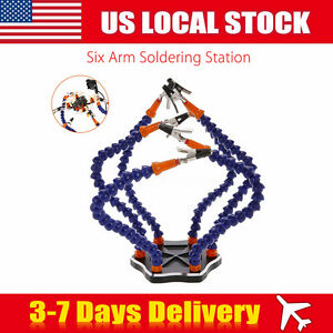 Universal 6 arm Helping Hands Soldering Welding Usb Workstation Fr Rc Helicopter