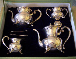 Japanese Five Piece 950 Silver Coffee And Tea Service With Matching Tray