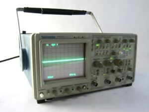 Tektronix 2465a Oscilloscope 350 Mhz Four 4 channel Ct Analog Portable Set up