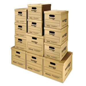Smoothmove Classic Moving Boxes Moving Kit Assorted Sizes Kraft 12 carton