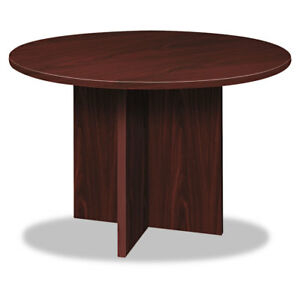 Bl Laminate Series Round Conference Table 48 Dia X 29 1 2h Mahogany