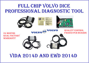 Full Chip Volvo Dice Professional Diagnostic Tool Vida 2014d Ewd 2014d