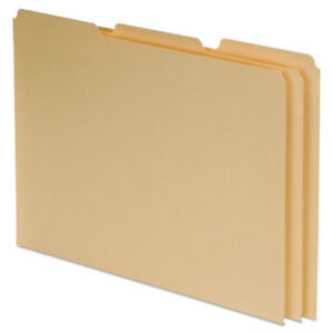Top Tab File Guides Blank 1 3 Tab 18 Point Manila Letter 100 box