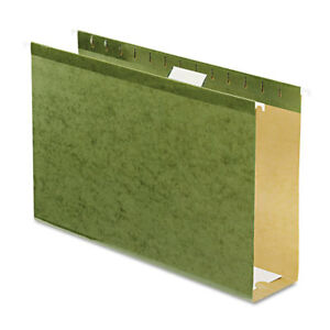 Reinforced 3 Extra Capacity Hanging Folders Legal Standard Green 25 box