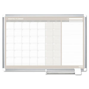 Monthly Planner 36x24 Silver Frame