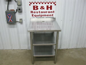 24 Stainless Steel Heavy Duty Work Table W Double Under Shelf 2