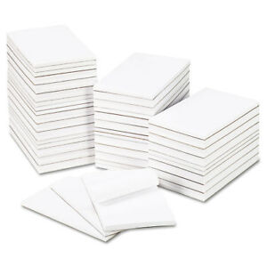 Bulk Scratch Pads Unruled 5 X 8 White 100 sheet Pads 64 Pads carton