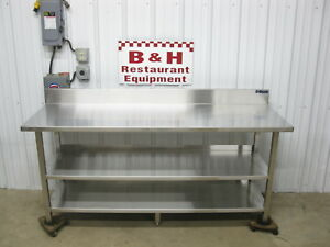 Amtekco 72 X 24 Stainless Steel Heavy Duty Work Table W Double Under Shelf 6