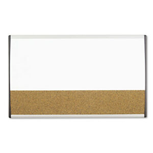 Magnetic Dry erase cork Board 18 X 30 White Surface Silver Aluminum Frame